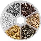 Mini Vis a Oeil, 600pcs Épingles à œil Crochets à visser Crochets de vis à oeil Boulons Crochet à œil pitons à vis 5*10mm pou