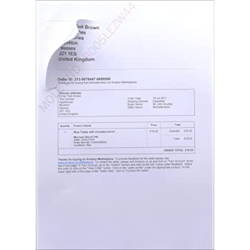 amazon despatch note invoice integrated label paper invoice with