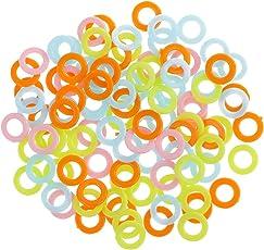 Segolike 100 Pieces Plastic Crochet Ring Marker for Knitting Crochet DIY Handmade Sewing Tool