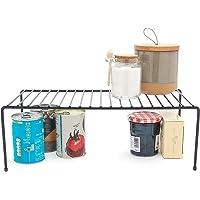 simplywire - Organiseur de placard de cuisine – Étagère de rangement – Support métallique – Noir
