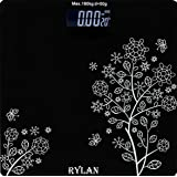 RYLAN .Electronic Thick Tempered Glass & LCD Display Digital Personal Bathroom Health Body Weight Scales For Body Weight, Wei