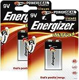 Energizer Original Batterie Ultra Plus E-Block (9 Volt, 2x 1-er Pack)