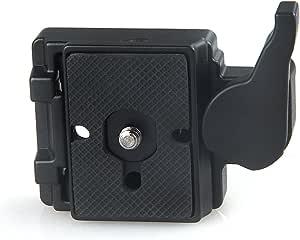 Konsait Kamera 323 Schnellwechselplatte Mit Schnellspanner Adapter Für Manfrotto 200pl 14 Compat Platte