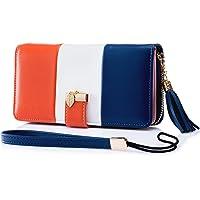 Roulens Portafoglio Donna in Pelle con Blocco RFID con più porta carte, tasca per telefono tasca con cerniera moneta e…