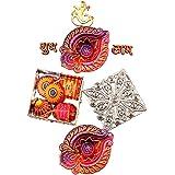 Chokocraze bouquet Diwali Celebration Silver Gift Box of 5 Cracker Chocolates