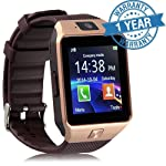 Padraig DZ09 with Camera,Touch Screen, Bluetooth, Support SIM Card, SD Card Smartwatch, (Brown, Gold)