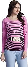 Peek a Boo - Lustiges Witziges süßes Umstandsshirt mit Guck-Guck Motiv für die Schwangerschaft/Umstandsmode / Schwangerschaftsshirt, Langarm