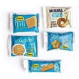 Colussi e Misura - Biscotti Monoporzione 120 Pezzi Assortiti in 5 Varietà e Confezionati in Imballaggio Sicuro Resistente agl