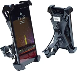 Blackcat Bike Mobile Charger with Holder - Spyder 2.4A 360° Rotation Universal (Scooter/Activa/Mirror Mounted)