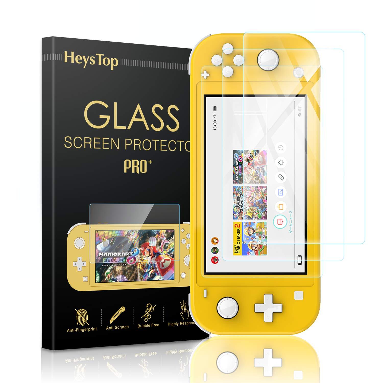 HeysTop Verre Trempé pour Nintendo Switch Lite [3 Pièces], Film Protection en Verre trempé écran Protecteur pour Nintendo Switch Lite