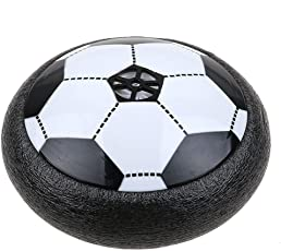 Montez Air Powered Electric Soft Padded Rubber Foam Protected Soccer Football Toy with LED Lights for Indoor (Multicolour)