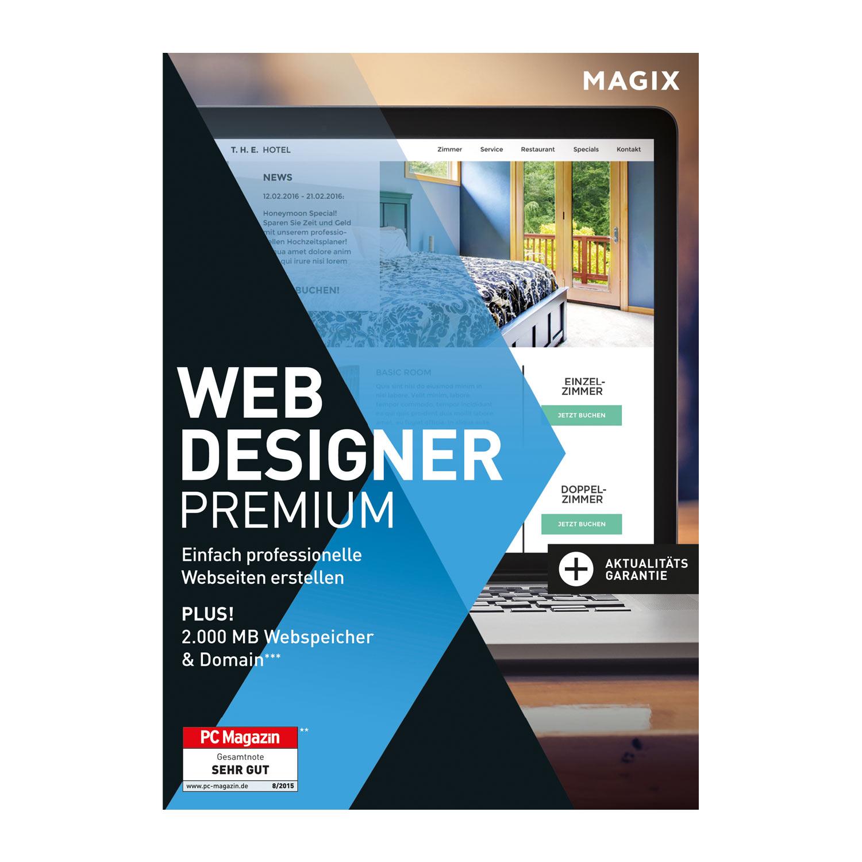 MAGIX Web Designer Premium – 15 – Professionelle Websites selbst erstellen [Download]