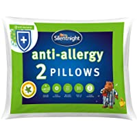 Silentnight Anti-Allegy Pillow, Pack of 2, Microfibre, White, Twin