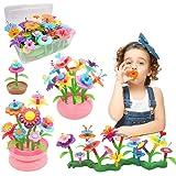 YORKOO Jouet Cadeau Fille 3 4 5 6 Ans Enfants Jouets de Construction de Jardin de Fleurs pour Enfants Fleur Jeux de Construct