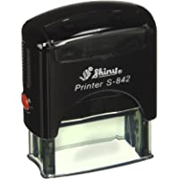 Shiny S-842 Rubber Stamp, 14 x 38 mm, Blue