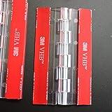 4X Acryl Scharnieren – Geen Lijm Vereist. Transparant Duidelijk Plastic Acryl 75mm, Zelfklevend