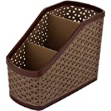 Kuber Industries Compact Plastic Storage Basket, Brown (CTKTC5250)