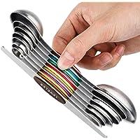 YOROO Cuillères à Mesurer Magnétiques Magnetic Measuring Spoons Set,Double Face en Acier Inoxydable avec égaliseur et…