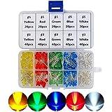 YONGLINLVDIANKEJI 300 stuks 3 mm 5 mm set 2-polige diffuse LED lichtdiodes elektronische componenten met 5 kleuren