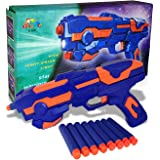 Sky Tech® 2 in 1 Foam Blaster Gun Toys Safe and Long Range with Water Bullets & Laser Light Toy (Galaxy Gun with 8…