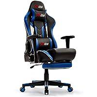 IntimaTe WM Heart Chaise Gaming,Fauteuil Gamer de Bureau en Similicuir Racing Chaise de Gamer avec Repos-Pieds, Chaise d…