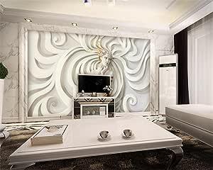 Wanghan Papier Peint 3D Sculpture En Relief Moderne Beauté ...
