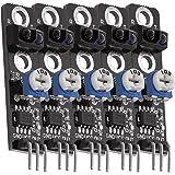 AZDelivery 5 x KY-033 Modulo de evitación de obstáculos con seguidor de líneas infrarrojas TCRT5000 para Arduino