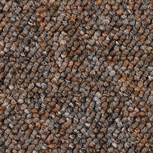 BODENMEISTER BM72392 Teppichboden Auslegware Meterware Schlinge 400 und 500 cm Breit, verschiedene Längen, Variante:, Braun Terra, 4 x 4 M