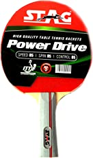 Stag Power Drive Table Tennis Racket with Ittf Authorised Rubber