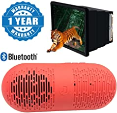 Drumstone Y1 Bluetooth Stereo Speaker with Fm/Pendrive, Sd Card Input and F2 3D Magnifying Enlarger Screen for All Smartphones (YY.Speakr+F2Screen)