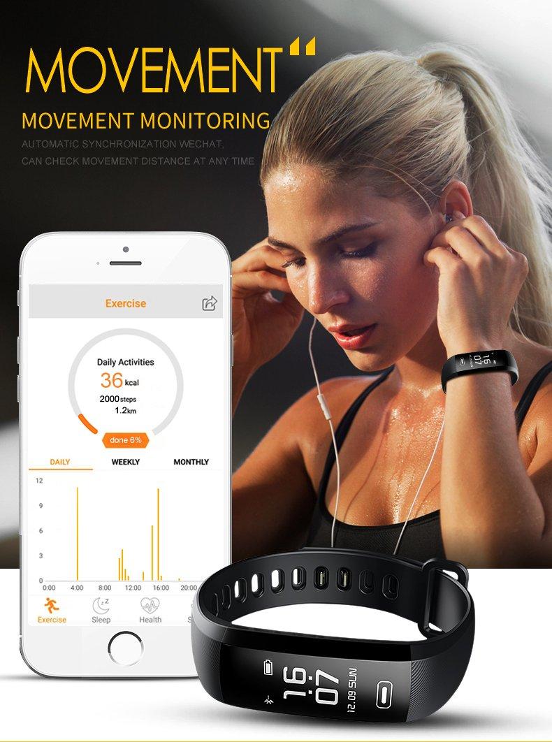 Pulsera Actividad Reloj Inteligente Fitness Tracker Multifuncional Cuenta Pasos CaloríAs, Smartwatch Fitness Tracker Para Hombre Y Mujer 4