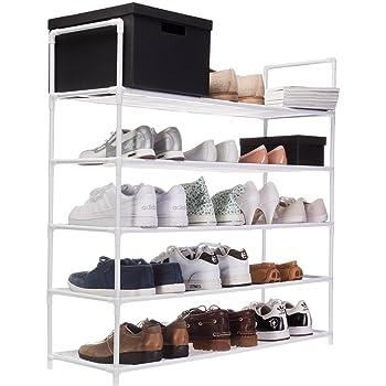 Relaxdays Schuhregal Mit 5 Ablagen Schuhablage Fur 20 Paar Schuhe