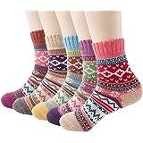 WKTRSM Calcetines Termicos Mujer Invierno Navidad Calcetines Divertidos Gruesa Suave Cómodo Calcetines de Lana Cálidos Casual