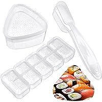 Lot de 3 moules à sushis japonais, kit de fabrication de sushis Nigiri, moule à sushis en forme de triangle, moule à 5…