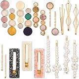 Litthing Mollette per Capelli Perle Decorativo Fermaglio Acrilica Barrettes Macaron Artificiali in Resina Perla Clip Eleganti