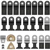 Fixkit Multitool Zaagbladen Set Voor Oscillerende Multitools Stalen Zaagbladen voor Fein Multimaster,Milwaukee, Einhell - 23