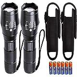LED zaklamp Zoom met Holster Set / 2 stuks extreem helder 1000 lumen Cree Led T6 zaklampen kleine mini handlamp campinglamp o