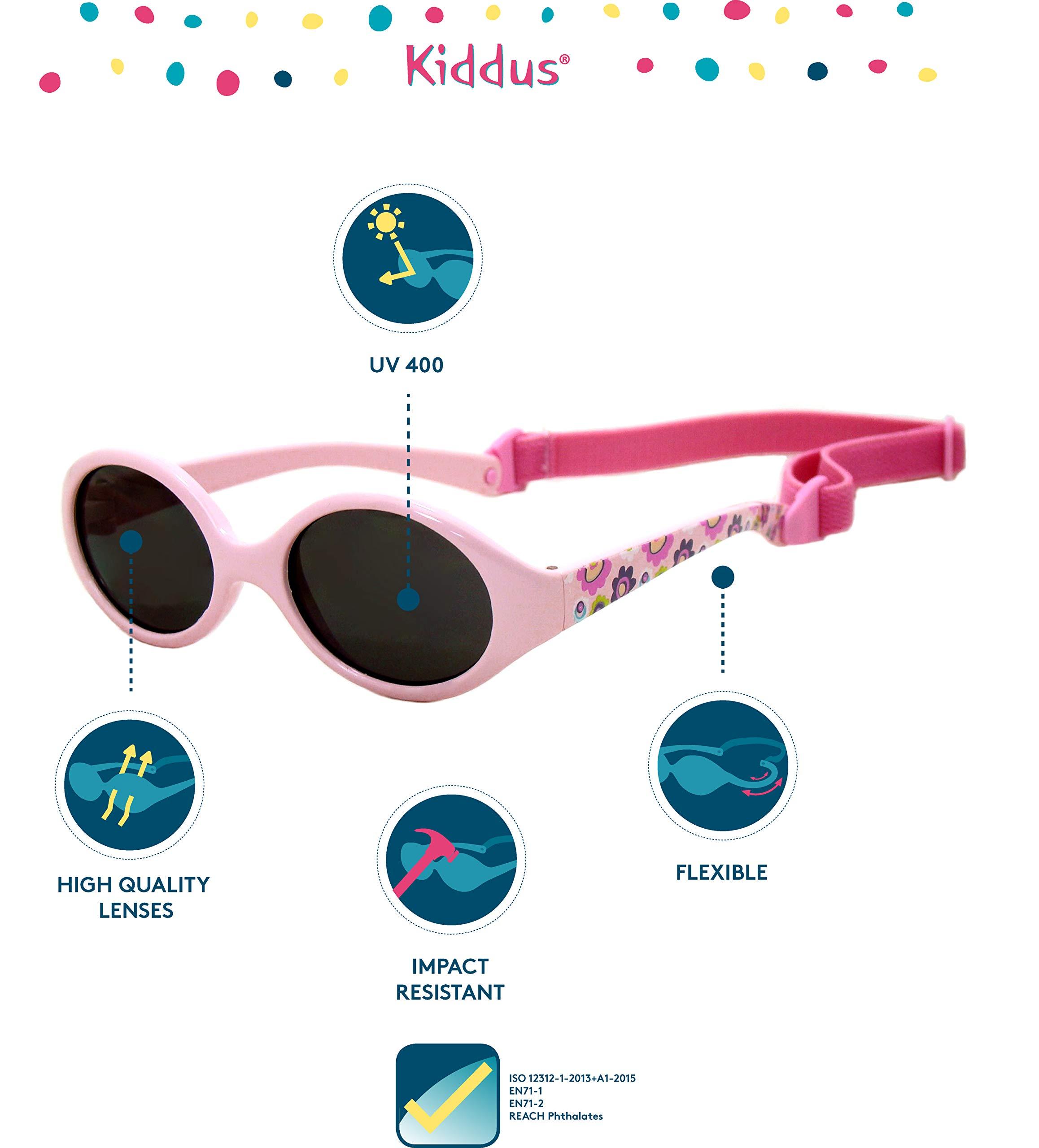 Kiddus Gafas de sol para bebe, niños y niñas. SUPER FLEXIBLES. A partir de 6 meses. UV400 100% protección rayos UVA y… 2