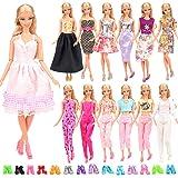 Miunana 15 Pezzi = 5 PCS Fatti A Mano Principessa Abiti Vestiti alla Moda Fashion + 10 PCS Scarpe Selezionati A Caso per 11.5