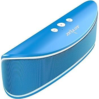Altoparlanti Portatili Wireless ZEALOT S2 Bluetooth Speakers Desktop Dual-pilota con Stereo Stereo del Suono Superiore Micro SD Card / USB Lettore Musicale / Microfono Incorporato per le Chiamate - Blau