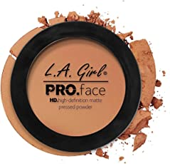 L A Girl HD Pro Face Pressed Powder, Toffee, 7g