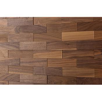 Amazon De Wodewa Wandverkleidung Holz 3d Optik I Nussbaum I 1m