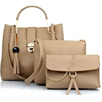 Vintage Women's Handbag with Pouch (Off-White) (Set of 3)