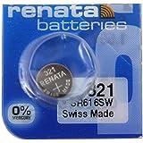 Renata 321 SR616SW Pile à oxyde d'argent sans Mercure pour Montre 1,55 V