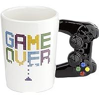 Puckator GAME OVER Game Controller Ceramic Shaped Handle Mug, Tea Coffee Hot Drinks, Decorative Gift Box, Home Kitchen…