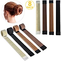 8PCS accessori per capelli, ivencase Ciambelle per chignon 4 colori ragazza donna Fashion Hair Styling Clip Hairstyle…