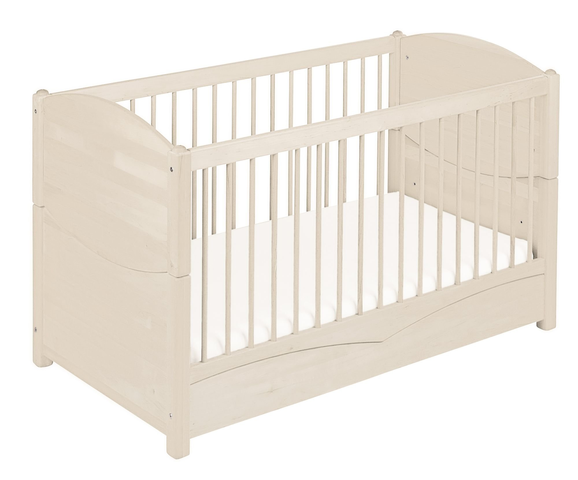 BioKinder 22128 Bed for babies and toddlers Luca from biological wood Bio-Kinder Bed Luca for Babies and Toddlers Adjustable height. 3 removable bars. Various features Sustainable solid biological wood (alder/pine). Biological finish 1