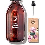 AGUA DE ROSAS ORGÁNICA | Tónico de Agua de Rosas de Damasco 100% Puro y Natural | Sin Alcohol Añadido, Sin Conservantes | Car