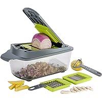 Smile mom Mandoline Trancheuse 3 en 1 Multifonction Couteau de Cuisine Légumes Slicer, Coupe-légume Professionnelle pour…