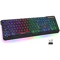 KLIM Chroma Wireless Gaming Tastatur Kabellos QWERTZ DEUTSCH + Langlebig, Ergonomisch, Wasserdicht, Leise + RGB…